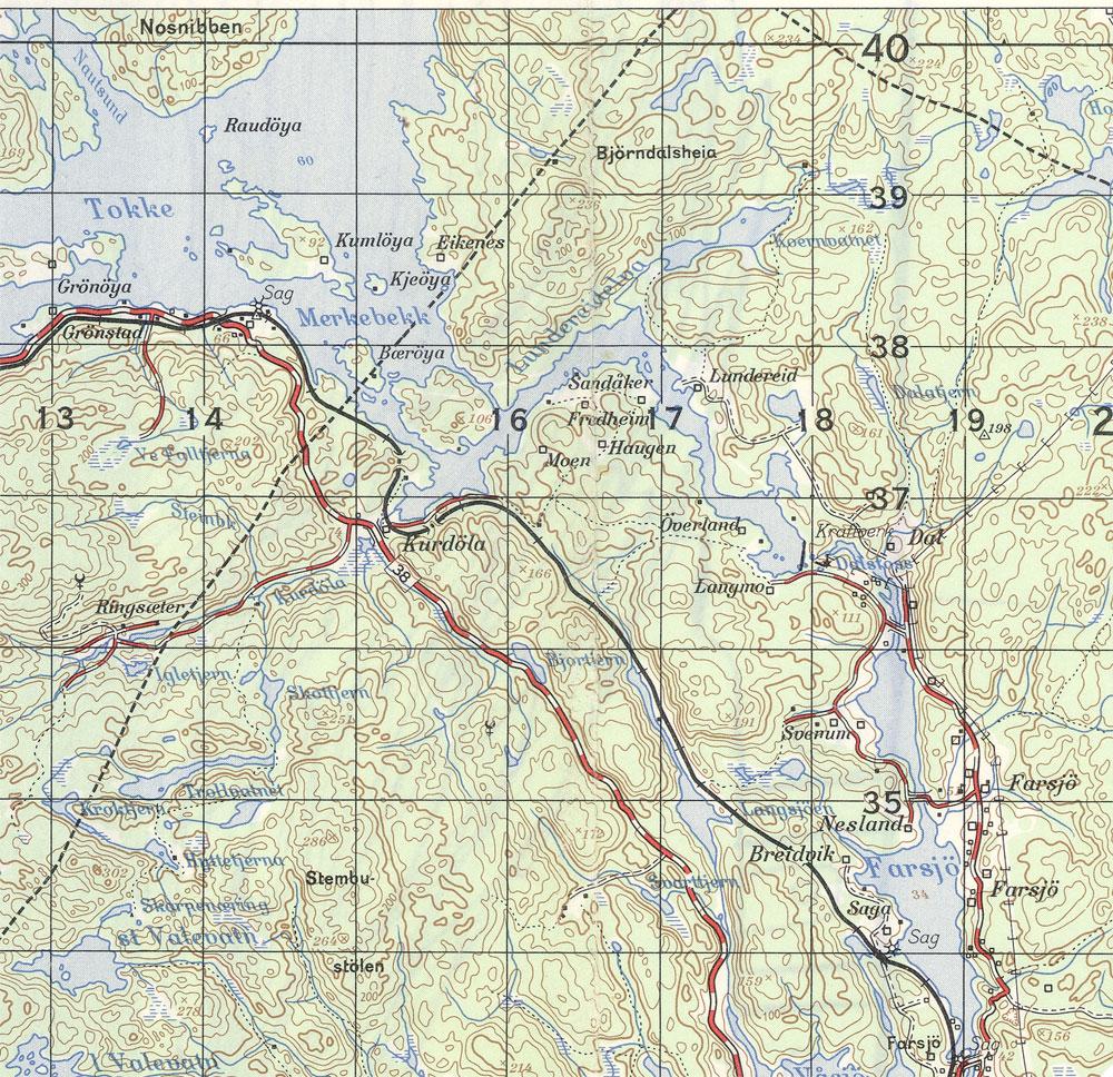 kart m711 Kragerø kart m711