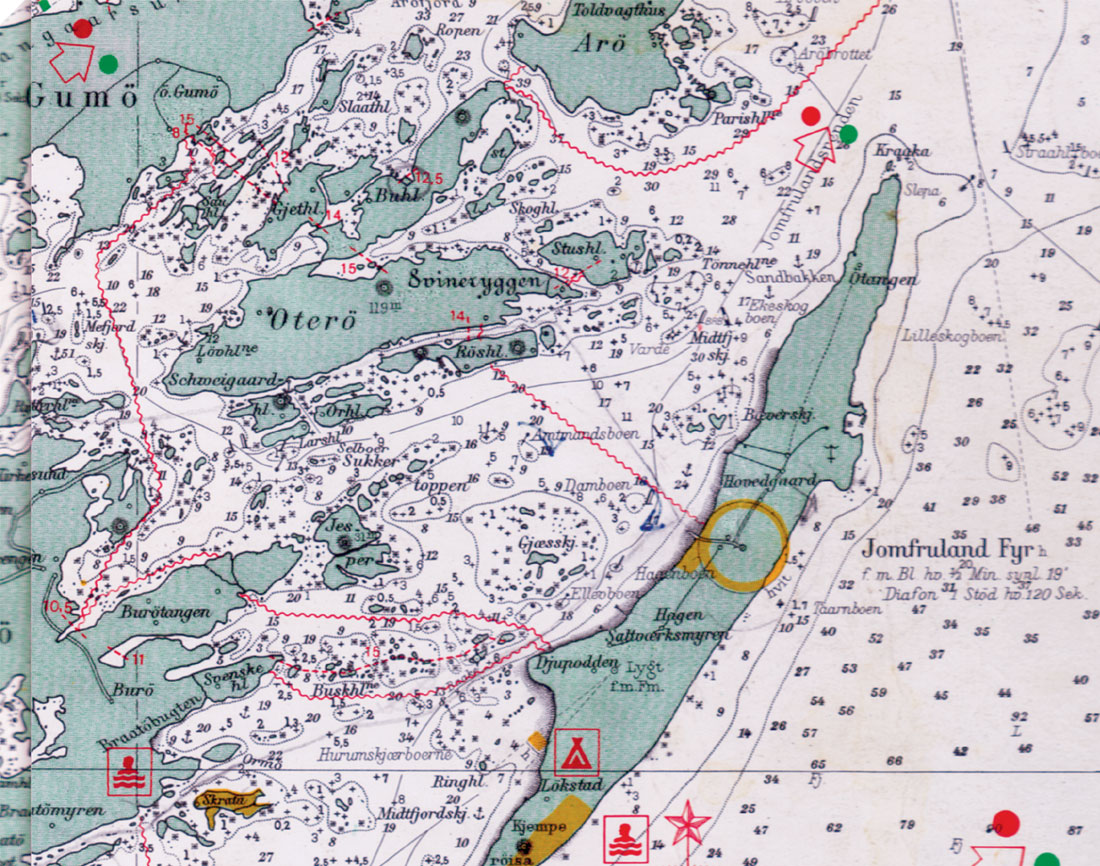 kragerø kart Sjøkart Kragerø kragerø kart