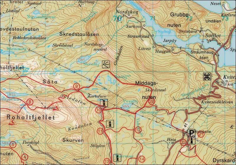 kart over vrådal Vrådal turkart kart over vrådal